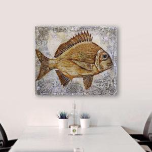Fish Antique 1, 80x95b