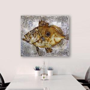 Fish Antique 2, 80x95b