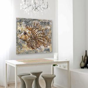 Fish, Composition 2, 80x90b