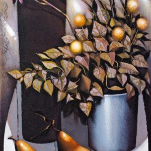 Stilleben mit Birnen, 100x50