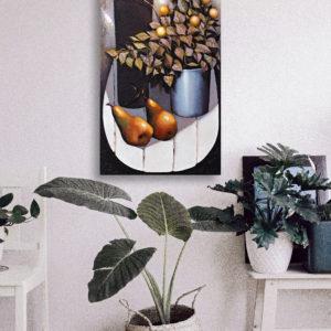 Stilleben mit Birnen, 100x50 2gmj