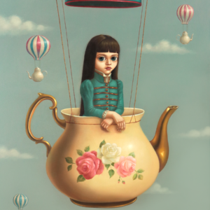 Flying Teapods 91 x69cm